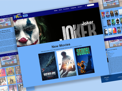 Radio Rental movies app rental uiux ux ui web app design brand