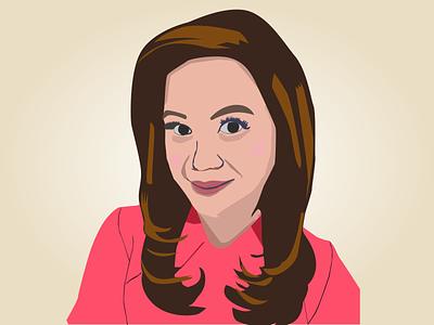 Women Reporter Makeup face vector illustration