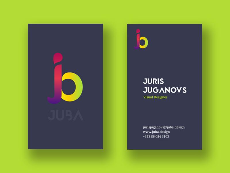 JUBA Business Cards business card design branding design brand and identity branding brand identity brand design