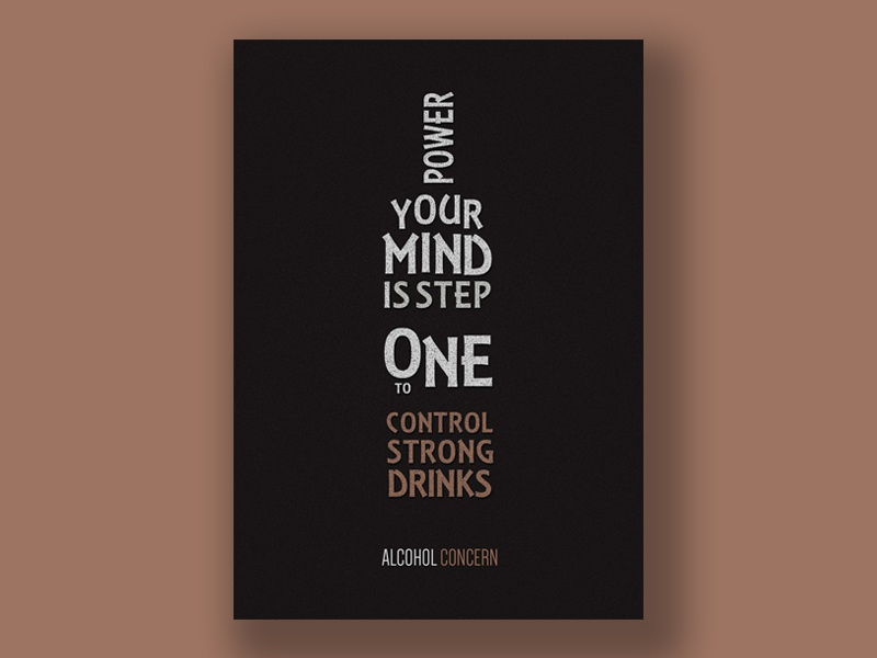 Alcohol Concern texture typography poster typography design