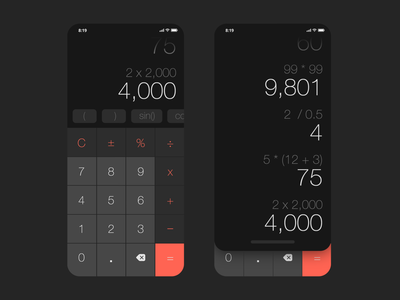 Daily UI: Calculator android web userexperience design product challenge math numbers app mobile ios calculator dailyui ui