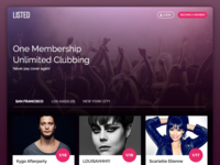 Listed - Clubbing Landing Page Website