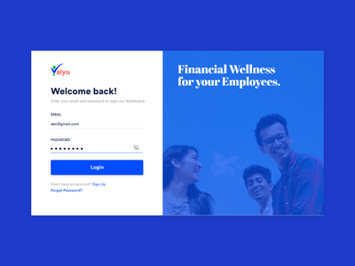 Dashboard Login Screen ui design blue inspiration employee fintech dashboard uidesign ui