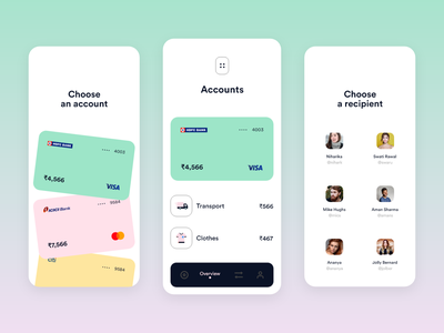 Payment App UI cards pay finance animation ux interaction ui app fintech payment