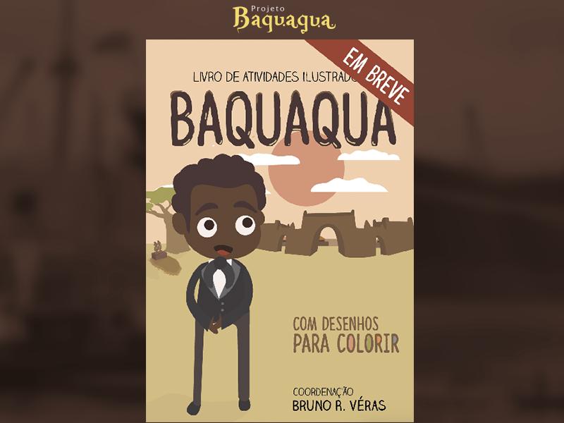 Capa da revista de atividades do Baquaqua magazine cover illustration print
