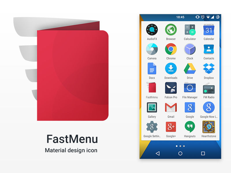 Material Design Icon Fastmenu restaurant menu app icon launch icon icon android material design