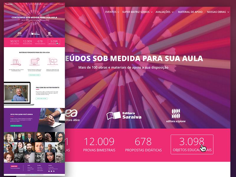 Landing page | portal of educational resources desktop ui educacional ladingpage