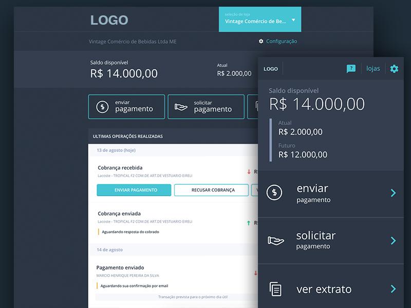 Dashboard | Finance portal system web desktop mobile fintech dashboard