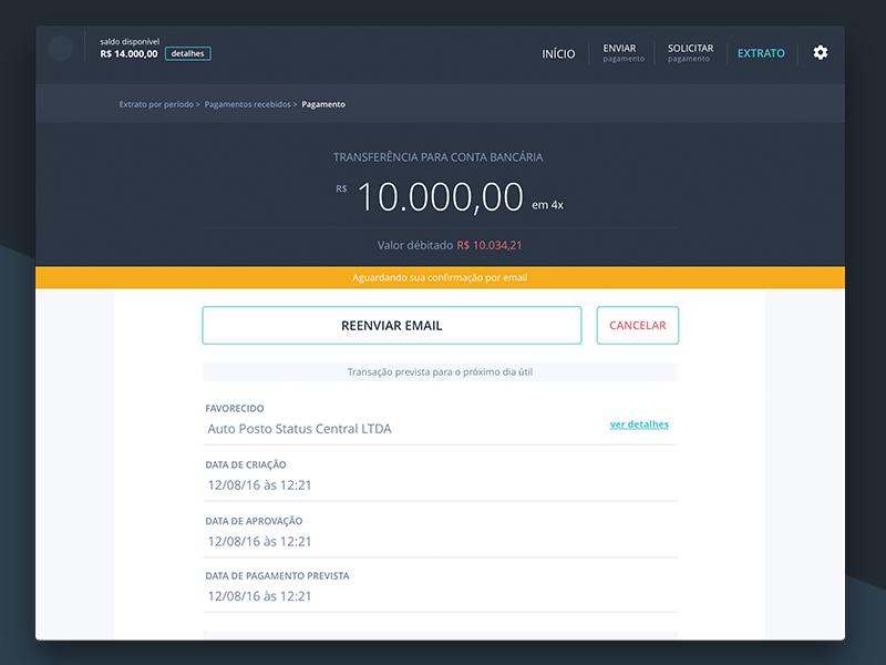 Monetary transition detail | Finance portal desktop mobile interface ux web fintech