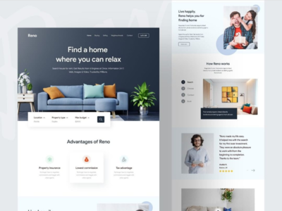 Website design adobe xd