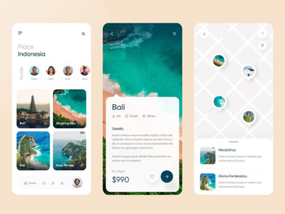 Travel app design concept UI/UX adobe xd