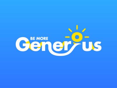 Be More Generous