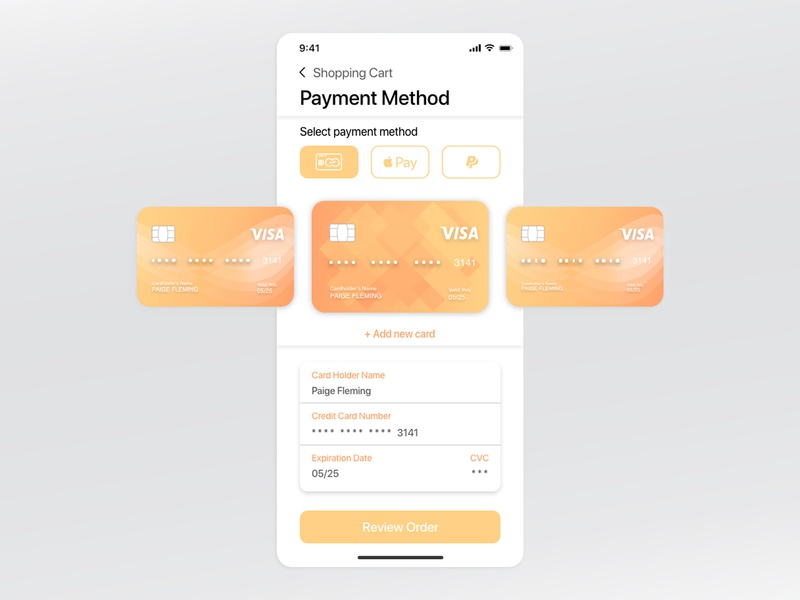 Daily UI 002 - Credit Card Checkout xd typography app ux design ui app design product design dailyuichallenge daily 100 challenge dailyui