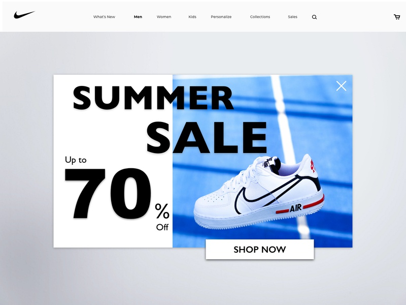 Daily UI 016 - Pop-Up / Overlay uxui popup nike overlay uidesign typography product design dailyuichallenge app design ux design daily 100 challenge dailyui