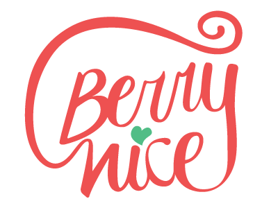 Berry Nice  calligraphy lettering logo