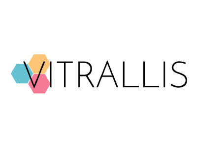 Vitrallis stained glass logo