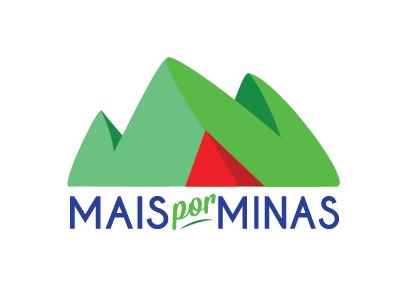 Mais por Minas Logo brazil mountain logo