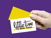 Little Time to Read Today lettering logo