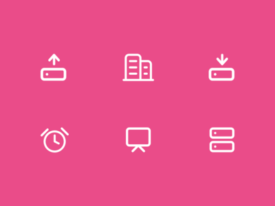 Icons about internet of things and workspaces