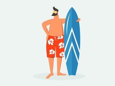 active summer people california hawaii beach design vector illustration surfer tourist sport hobby board surf sea vacation man summer active