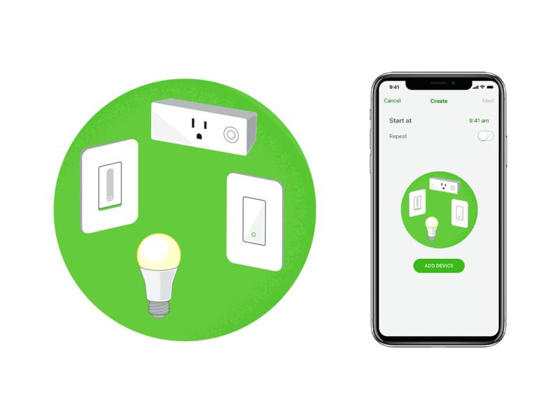 Add Device Illustration ui app branding illustration