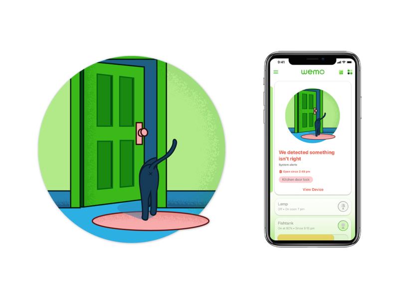 Door Detection Illustration ui app illustration branding