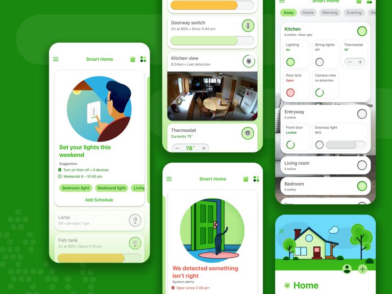 Smart home app product design appmobile iot app design ux ui