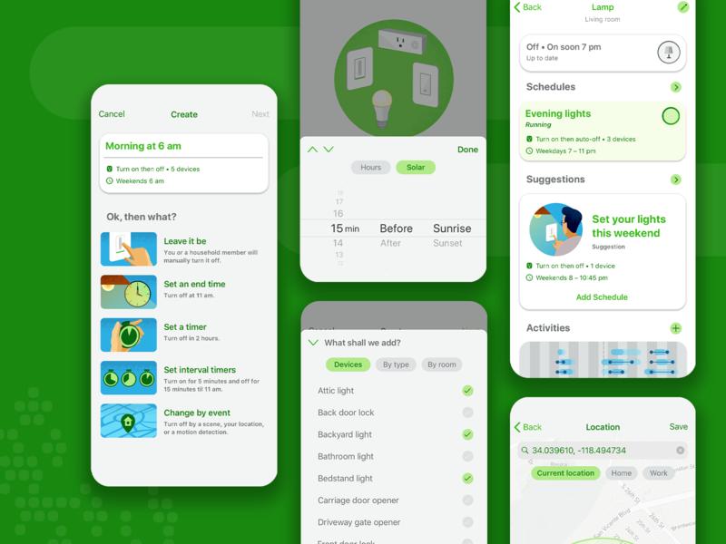 Smart home app appmobile product design iot design ux app ui