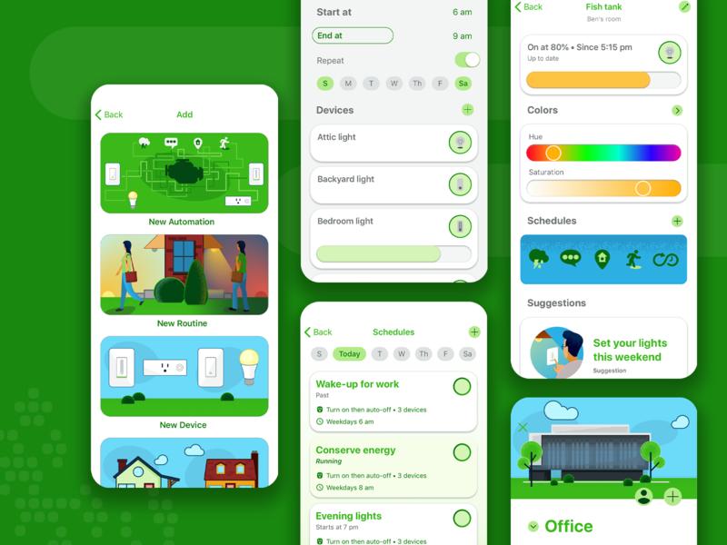 Smart home app ux product design iot design appmobile ui app