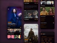 Entertainment app designsystem entertainment appmobile ux product design design ui app