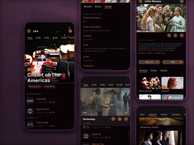 Entertainment app designsystem appmobile entertainment dark mode ux product design design ui app
