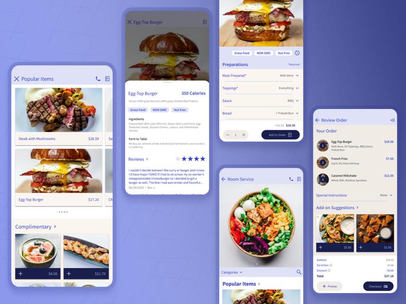 Room Service App Exploration designsystem appmobile ux product design design ui app