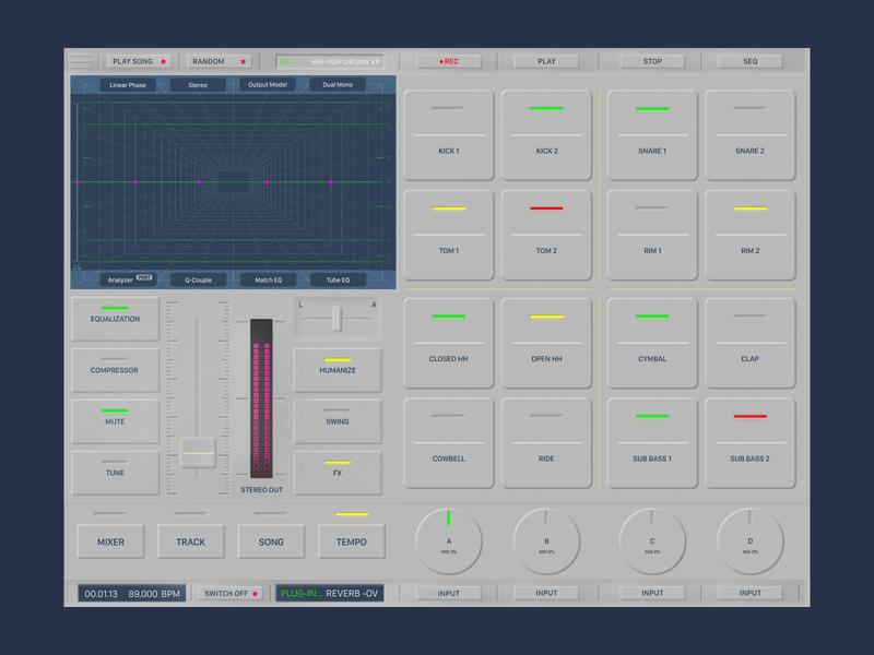 drum machine interface