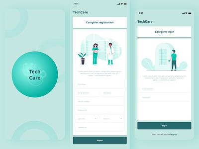 TechCare Registration healthcare design ux ui