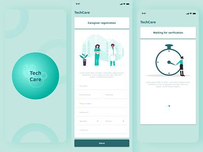 TechCare - User verification healthcare design ux ui