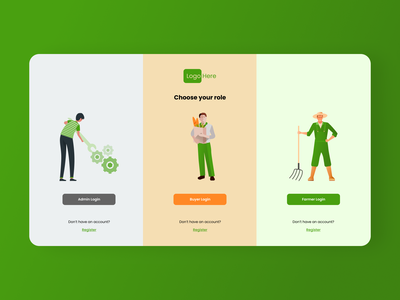 Dashboard ecommerce agriculture roles design ux ui