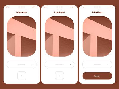 Intermeet getting started minimalist design ux ui