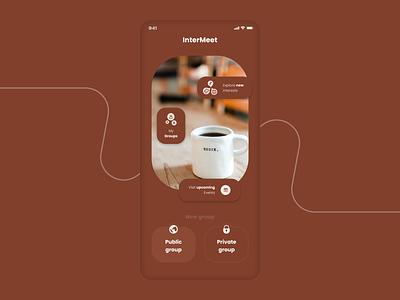 Chat room app social chatroom design ux ui