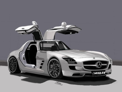 my favorite car illustration wacom digital drawing mercedes mercedes-benz car photoshop digital illustration digital painting digitalart