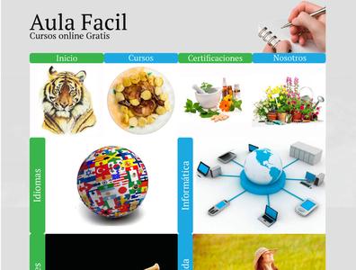 Rediseño Pagina Aula Fácil diseño web website