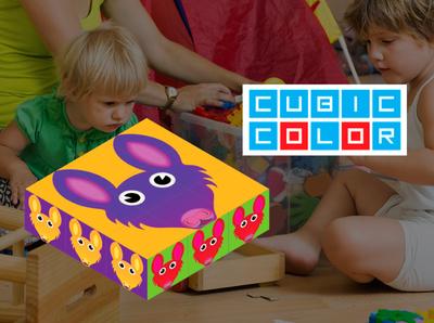 Cubic color ilustración marca diseño gráfico