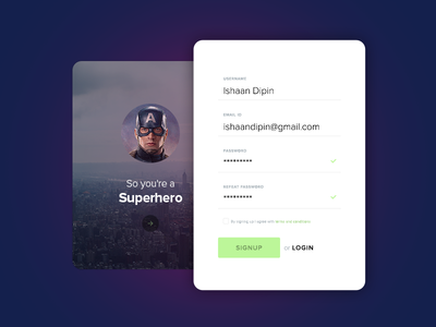 Daily UI :: Day 001 Sign Up