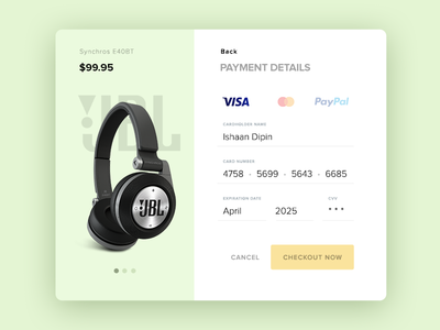 Daily UI :: Day 002 Credit Card Checkout