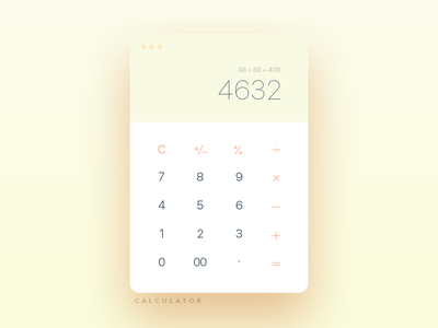 Daily UI :: Day 004 Calculator