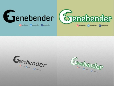 Genebender logo negative space logo illustrator work minimal typography vector illustration design logo
