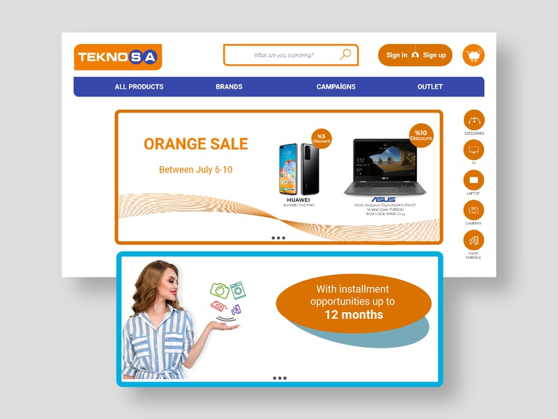Teknosa redesign design typography ux ui web icon vector logo app illustration