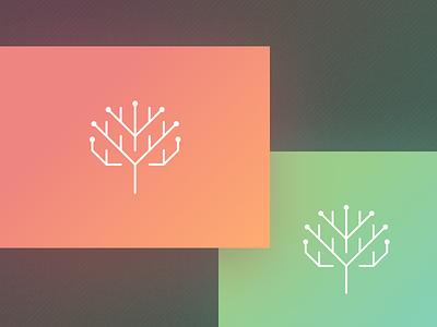Edentifi Identity vector typography plants logo mint identity branding app