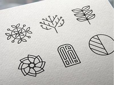 Edentify Logo Development minimal design plants typography identity logo branding app