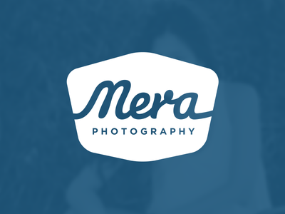 Mera Photography — Branding retina branding logo cursive deep blue artists music lifestyle portraits fashion photo photography mera gallery slideshow arrow overlay logotype typography vintage