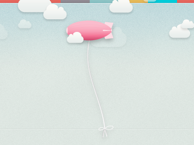 Blimps & Clouds blimp blimpio file uploading sharing blue pink grey noise texture red illustration rope knot